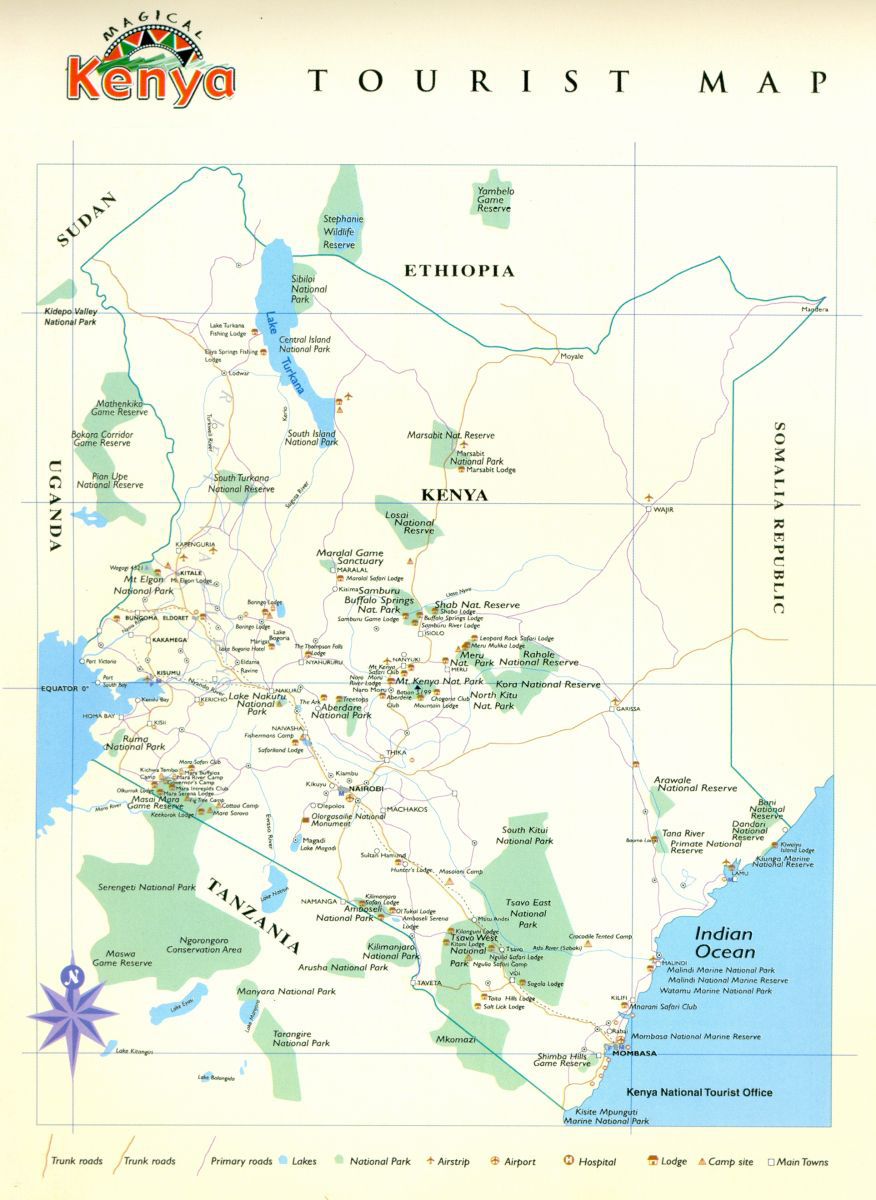 Kenya Tourist Map